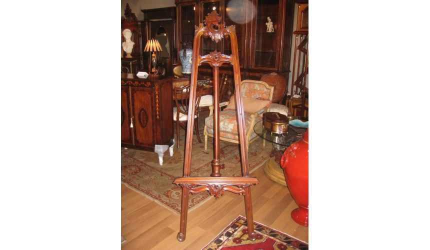 Decorative Accessories High Quality Furniture, Hand Carved Mahogany Easel