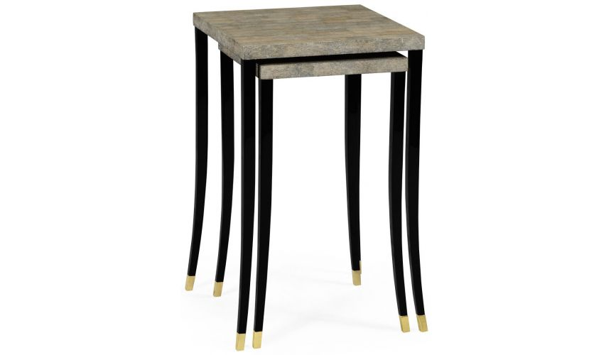TABLES - SIDE, LAMP & BEDSIDE Eggshell inlay nesting tables