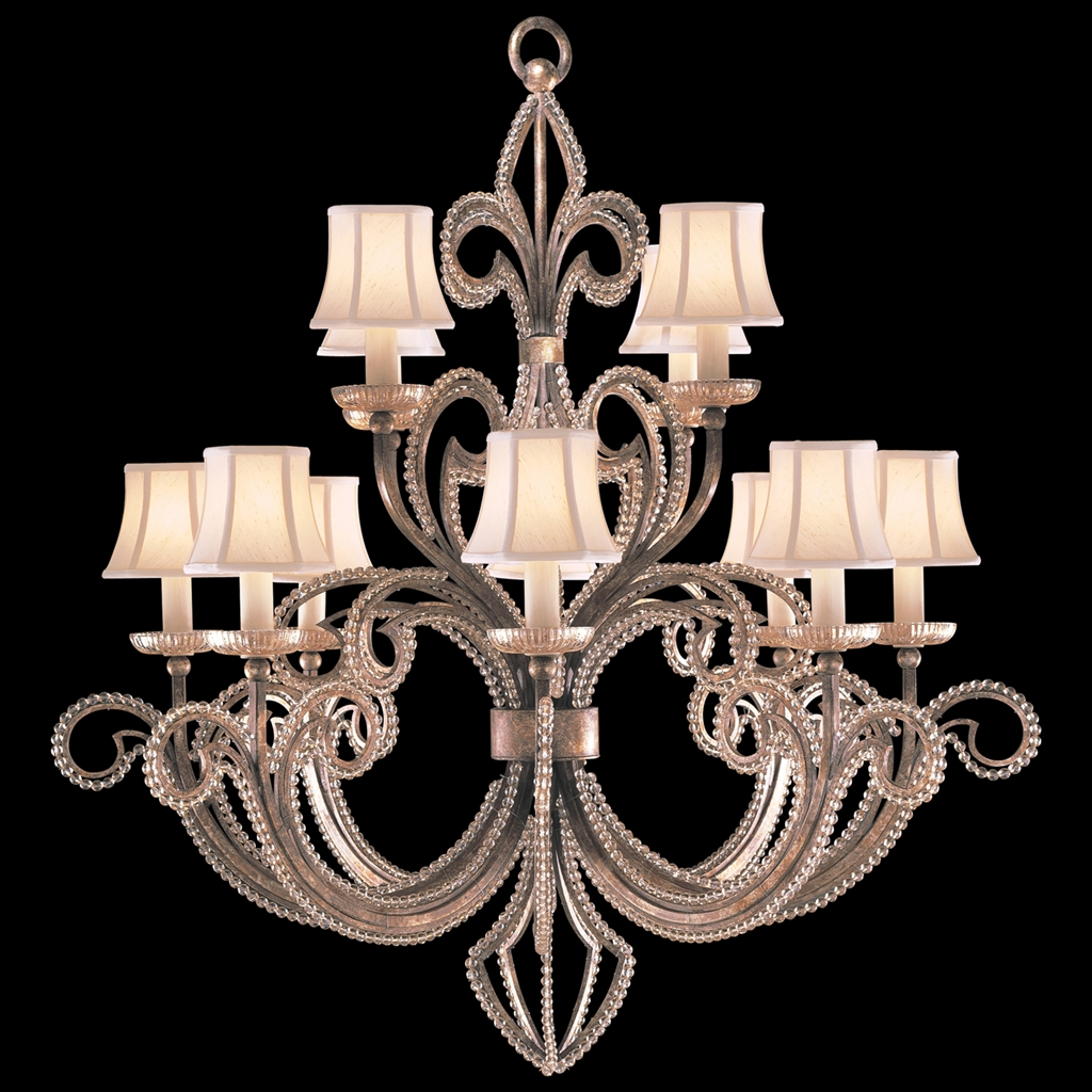 Two tier chandelier in a cool moonlit patina lighting two tier chandelier in a cool moonlit patina arubaitofo Image collections