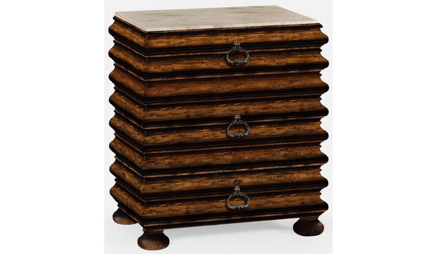 Chest of Drawers Rustic walnut chest of drawer
