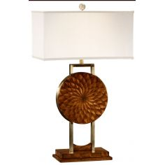 Feather inlay table lamp