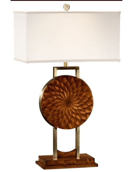 Table Lamps Feather inlay table lamp