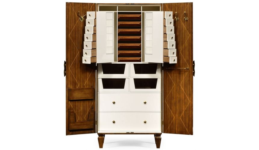Display Cabinets and Armories Walnut dresser armoire