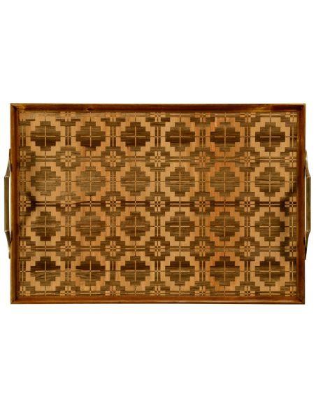 Tabletop Decor Rectangular inlaid tray