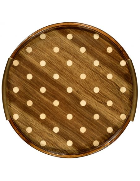 Tabletop Decor Circular polka dot tray different 2