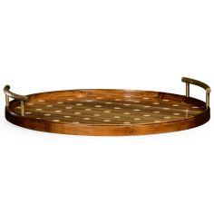 Circular polka dot tray