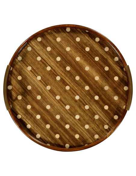 Tabletop Decor Circular polka dot tray