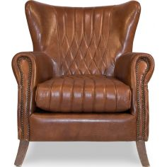 Brown Leather Arm Chair 445