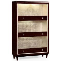 Chic stainless steel bookcase
