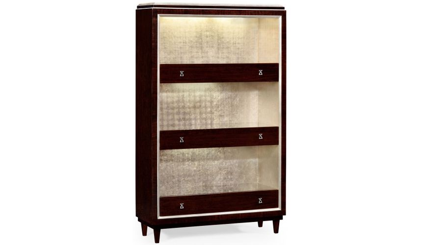 Bookcases Chic stainless steel bookcase