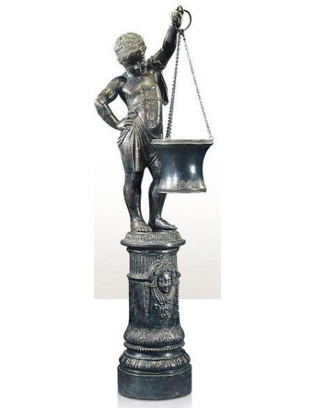 Decorative Accessories Verdigris Brass Figure of a Young Boy