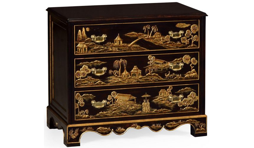 Chest of Drawers Chinoiserie nightstand drawer