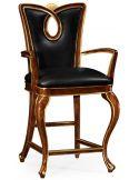 Mahogany counter arm stool