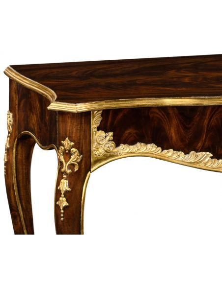 Console & Sofa Tables Console table with gilded carving