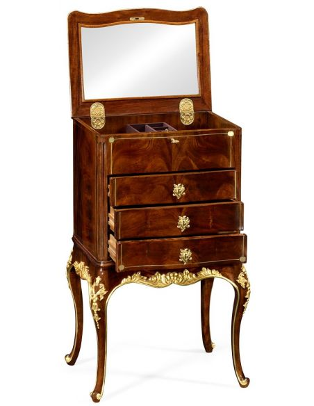 Dressing Vanities & Furnishings Jewelry cabinet with gilt carved detailing
