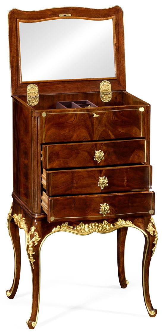 Dressing Vanities U0026 Furnishings Jewelry Cabinet With Gilt Carved Detailing