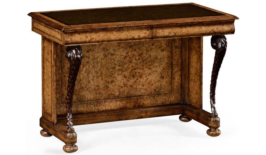 "Executive Desks Burl oak \\""pangolin\\"" writing desk"