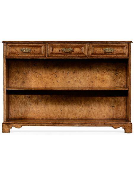 Bookcases George II style burl oak bookcase