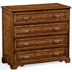 Burl veneered gentleman's writing chest
