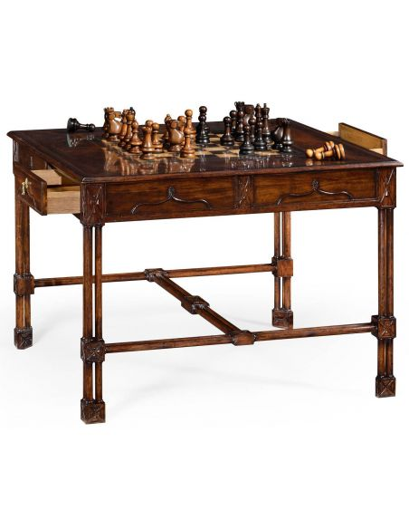 Game Card Tables & Game Chairs Chippendale gothic games table (large)