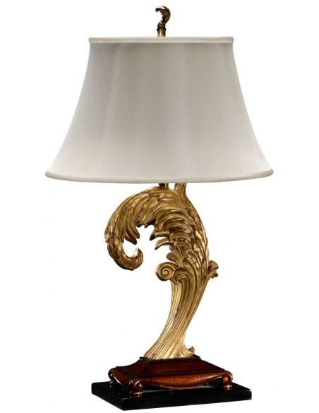 Table Lamps Asymmetric gilded leaf table lamp