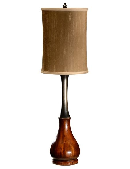 Table Lamps Mahogany and ebonised table lamp