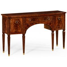 Regency mahogany bow fronted sideboard