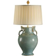 Distressed Finish Turquoise Lamp