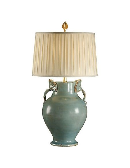 Decorative Accessories Distressed Finish Turquoise Lamp