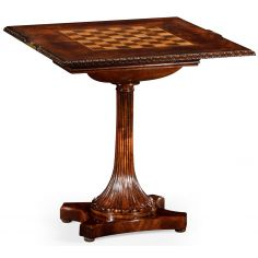 William IV mahogany games table with secret storage