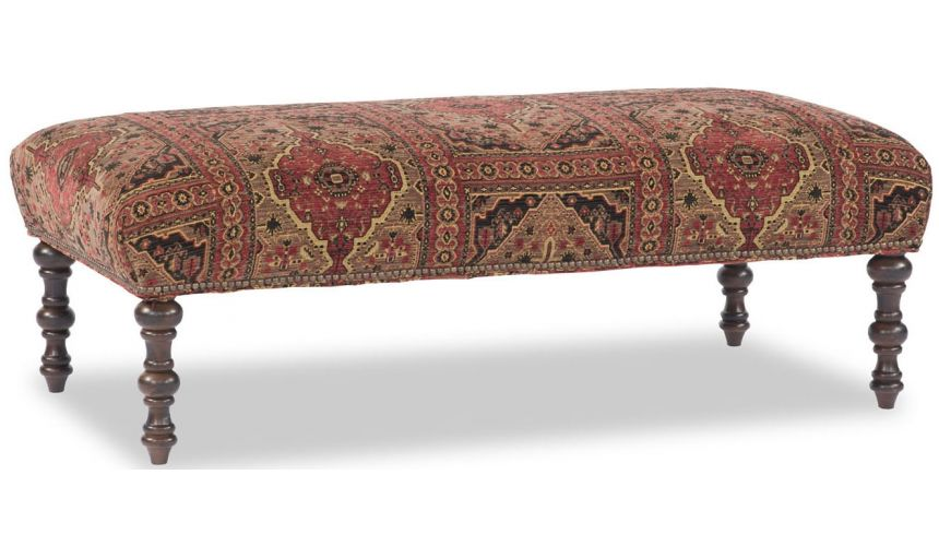 Luxury Leather & Upholstered Furniture Rectangular Tapestry Bench