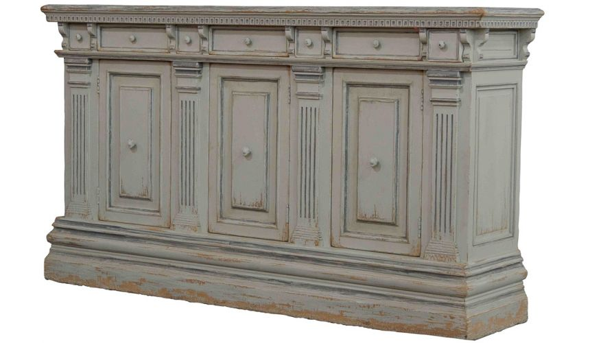 Breakfronts & China Cabinets Italian Credenza Painted Finish