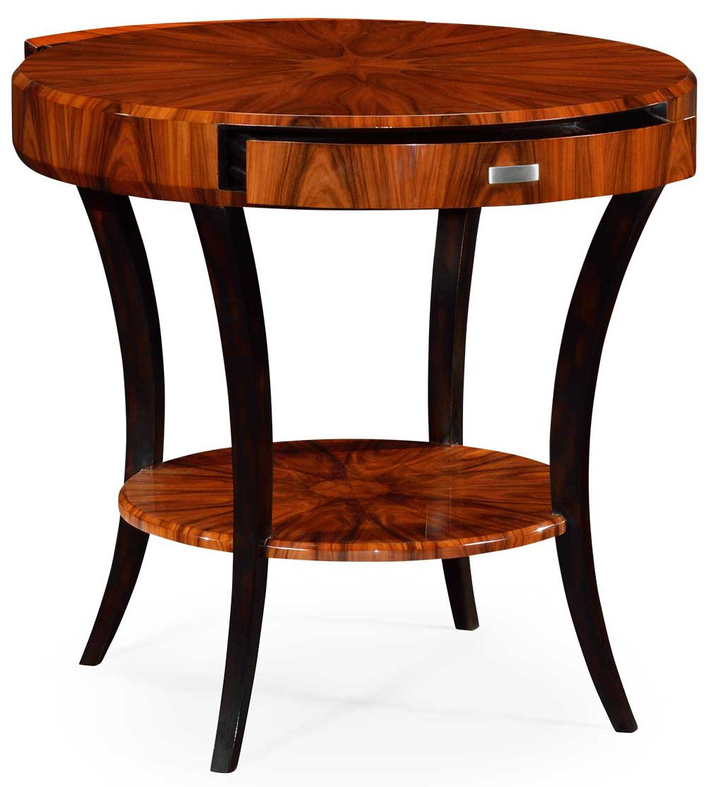Art Deco Foyer Furniture : Art deco round side table with drawer
