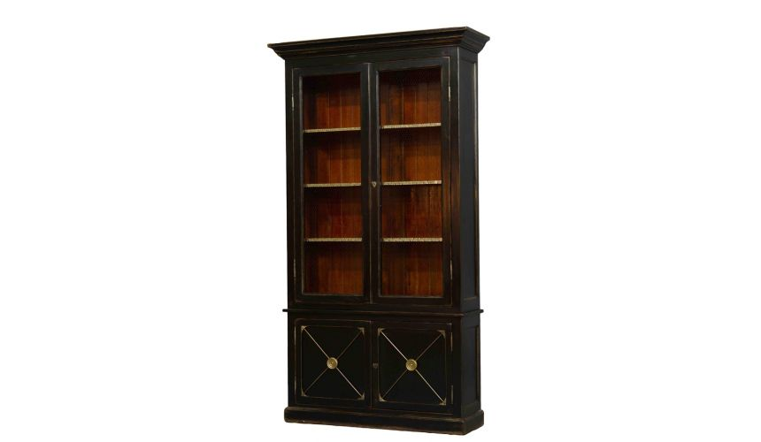 Breakfronts & China Cabinets English Bookcase Two Doors.