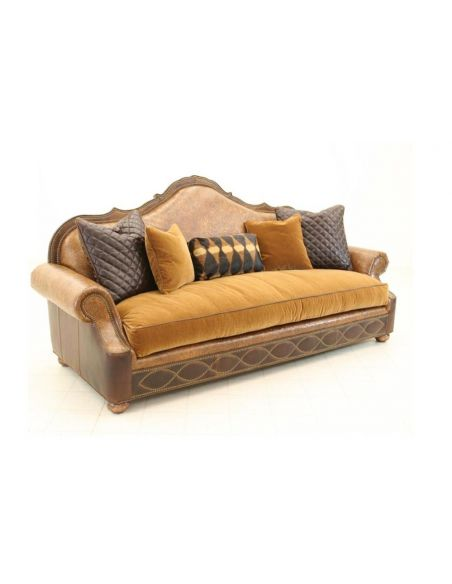 Tooled Leather Sofa High End Furniture fine home furnishings