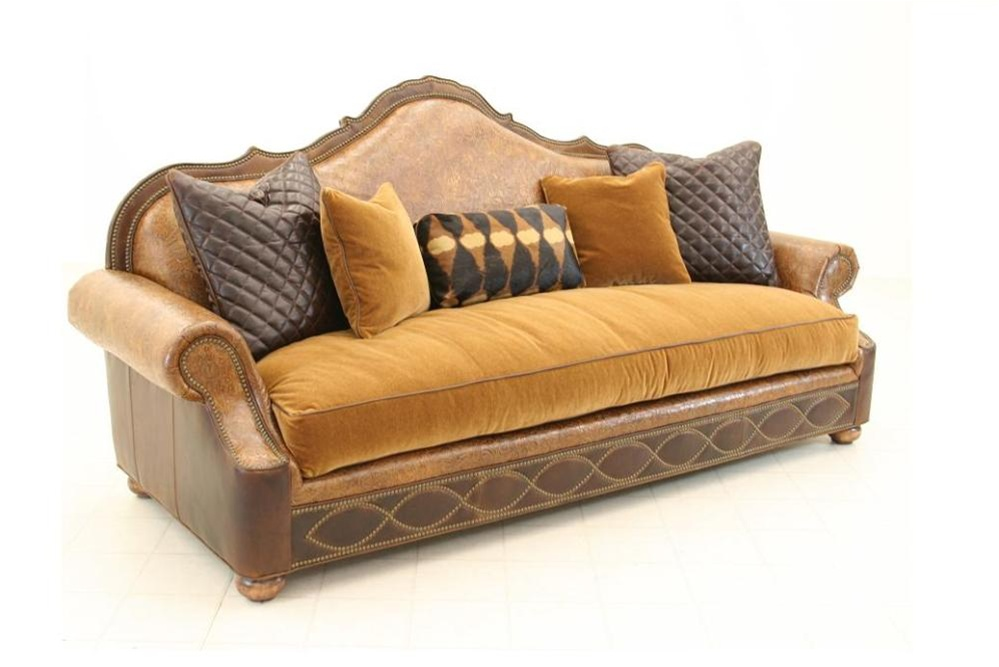 ... Furniture > Tooled Leather Sofa High End Furniture fine home