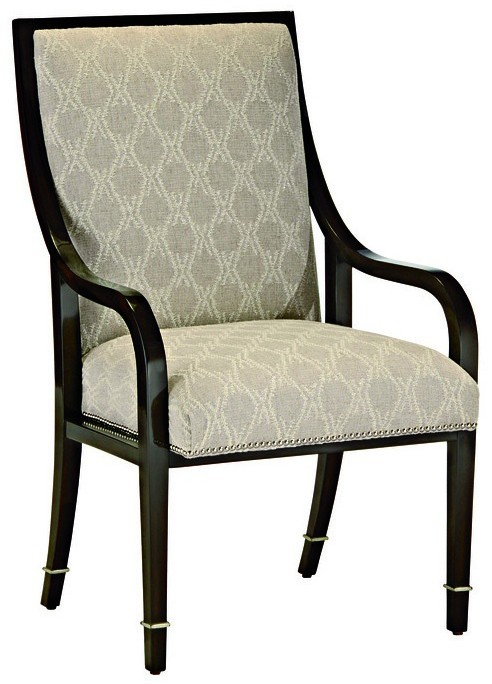 Chic modern dining room chair with arms for Dining room chairs with arms