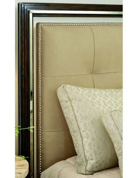 BEDS - Queen, King & California King Sizes Bed with luxurious tufted leather headboard