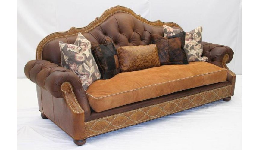 Western Furniture American Made Leather Sofa Set 89