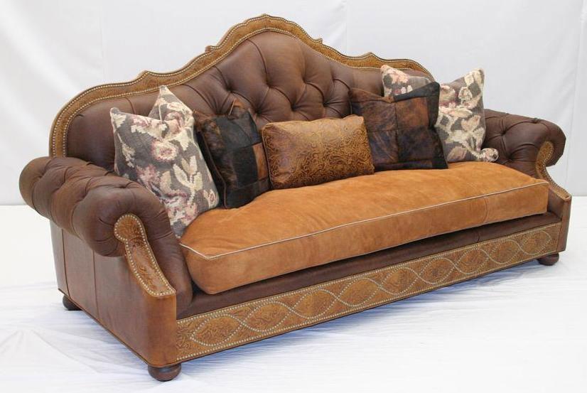 Western Furniture American Made Leather Sofa Set 89