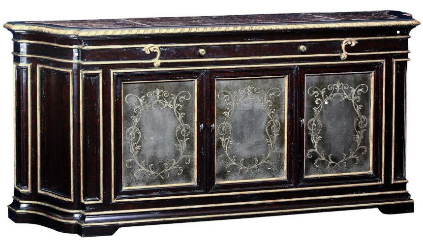 Breakfronts & China Cabinets Sideboard with intricate hand carved details