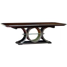 Art deco dining table with beautiful wooden inlay work