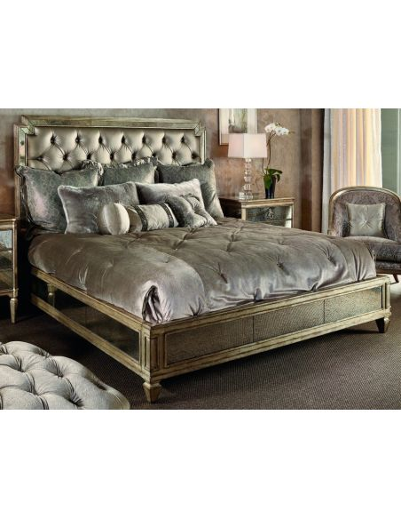 BEDS - Queen, King & California King Sizes Luxurious bed with chic tufted headboard