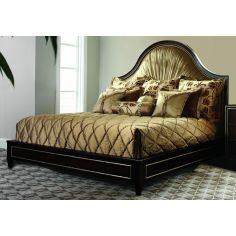 Bed with gorgeous pleated headboard