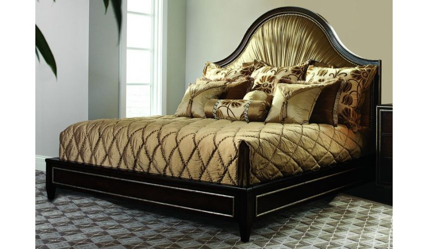BEDS - Queen, King & California King Sizes Bed with gorgeous pleated headboard