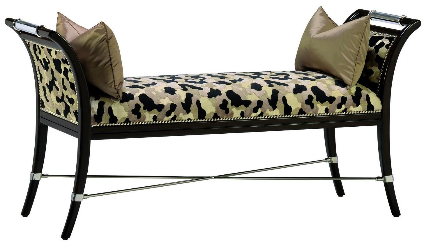 Tremendous Black Lacquer Bench With Chrome Detailing Creativecarmelina Interior Chair Design Creativecarmelinacom
