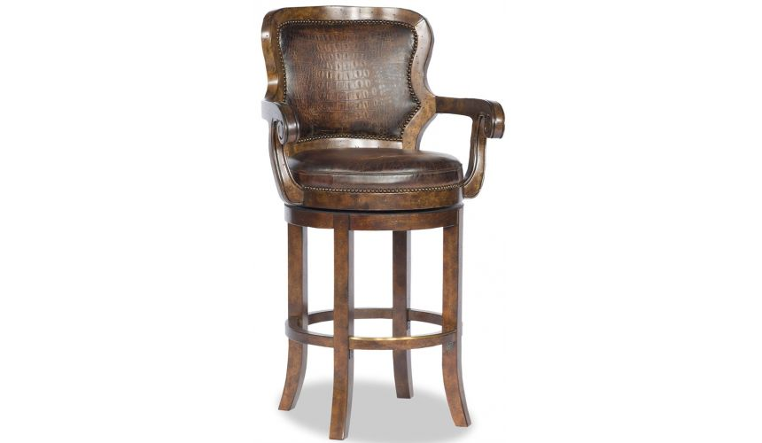 Home Bar Furniture Leather Swivel Bar Chair