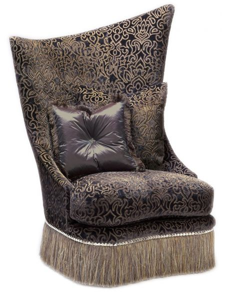 CHAIRS - Leather, Upholstered, Accent Asymmetrical chair