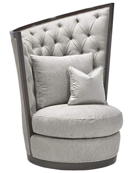 CHAIRS, Leather, Upholstered, Accent Exceptional modern style swivel