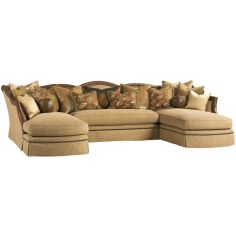 Grand sectional sofa with luxurious leather details